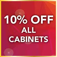 10% off all cabinets during our Gold Tag Flooring Sale.