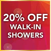 20% off walk-in showers during our National Gold Tag Flooring Sale